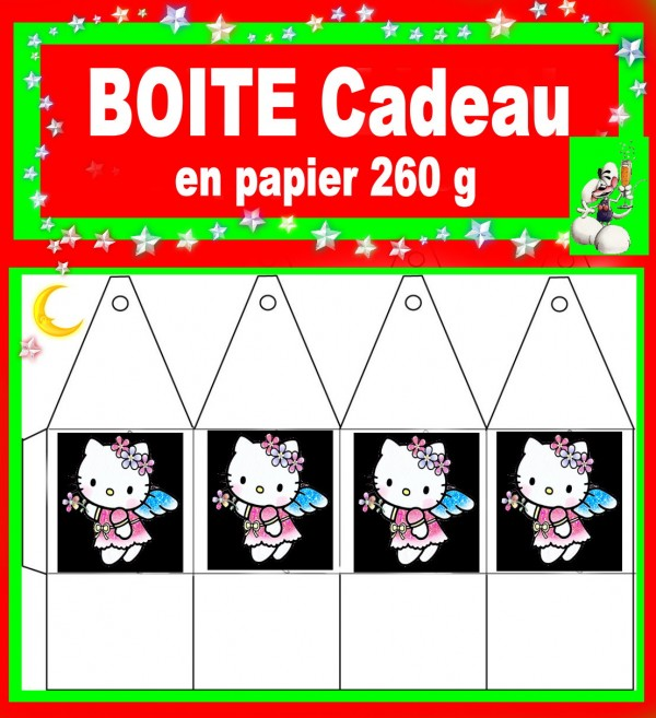 HELLO KITTY/BOITE CADEAU/SCRAPBOOKING/ANNIVERSAIRE/FILLE/PRINCESSE/AMOUR/MARIAGE/DRAGEES/BAPTEME/NAISSANCE/ANGE/NOEL/PAPA NOEL/ANGELOT/CONFIRMATION/COMMUNION